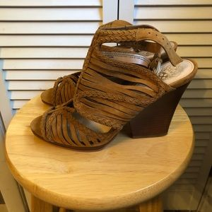 Camel Vince Camuto Sandals